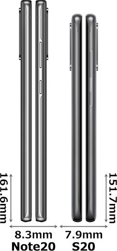 「Galaxy Note20」と「Galaxy S20」 3