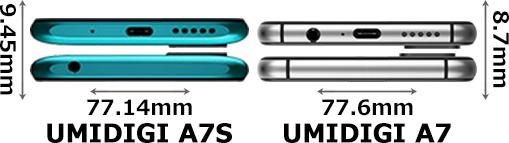 「UMIDIGI A7S」と「UMIDIGI A7」 4