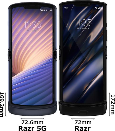 「Motorola Razr 5G」と「Motorola Razr」 1