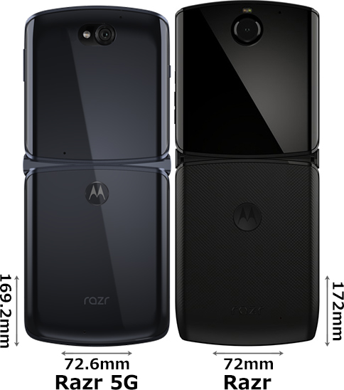 「Motorola Razr 5G」と「Motorola Razr」 2