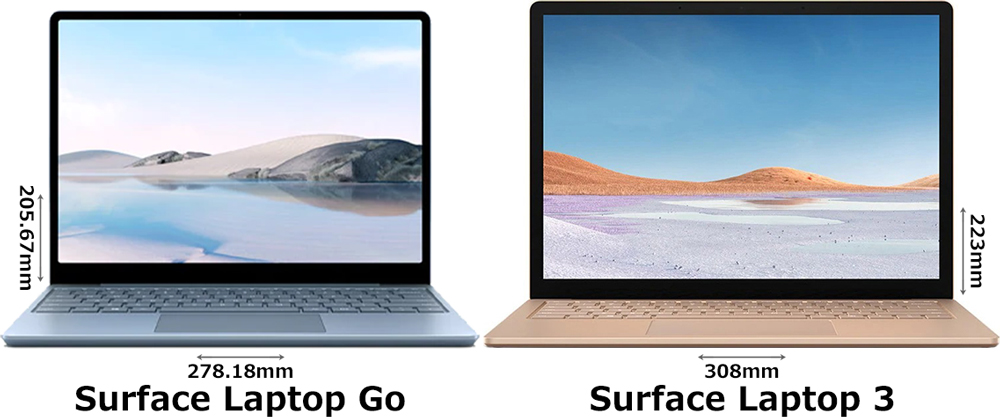 「Surface Laptop Go」と「Surface Laptop 3」 1