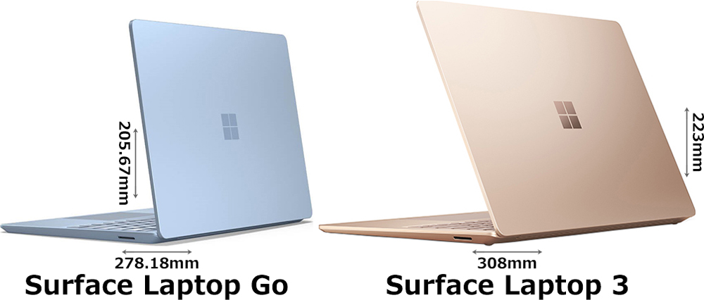 「Surface Laptop Go」と「Surface Laptop 3」 2