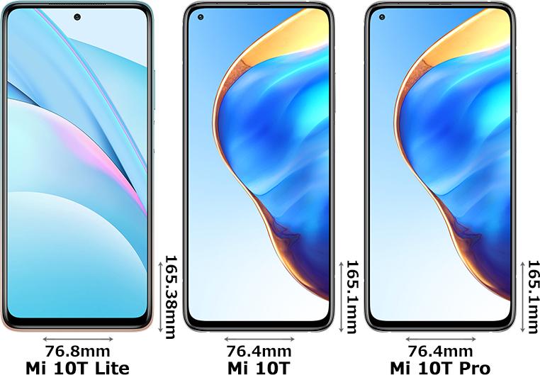 「Xiaomi Mi 10T Lite」と「Xiaomi Mi 10T」と「Xiaomi Mi 10T Pro」 1