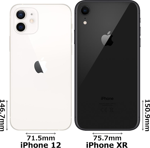 「iPhone 12」と「iPhone XR」 2