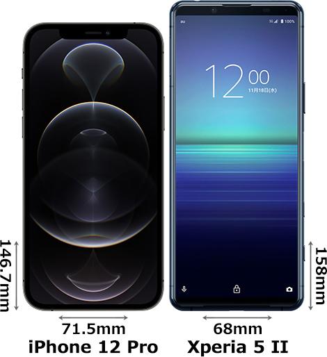 「iPhone 12 Pro」と「Xperia 5 II」 1