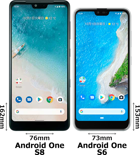 「Android One S8」と「Android One S6」 1