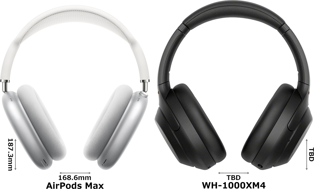 「AirPods Max」と「WH-1000XM4」 1