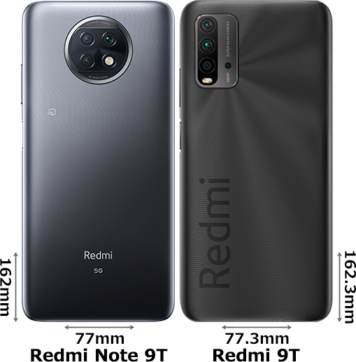 「Redmi Note 9T」と「Redmi 9T」 2