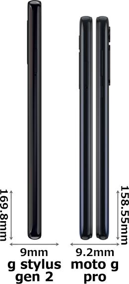 「moto g stylus (gen 2)」と「moto g pro」 3