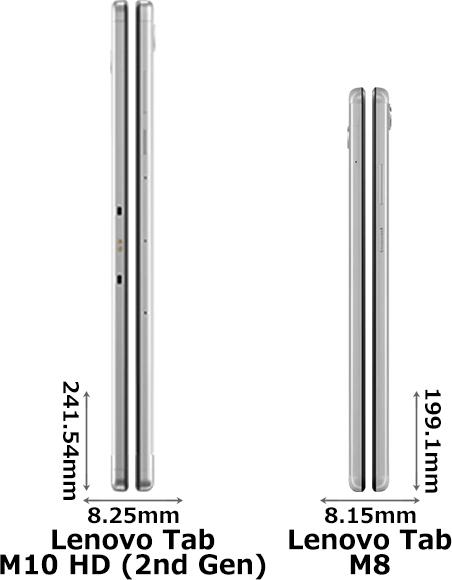 「Lenovo Tab M10 HD (2nd Gen)」と「Lenovo Tab M8 (HD)」 3