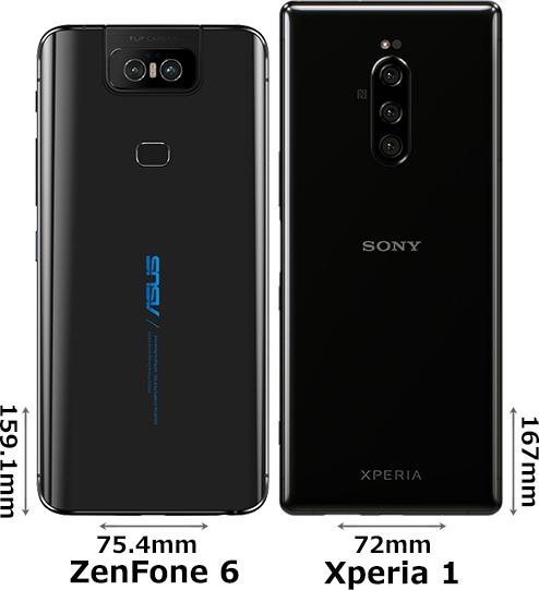 「ZenFone 6」と「Xperia 1」 2