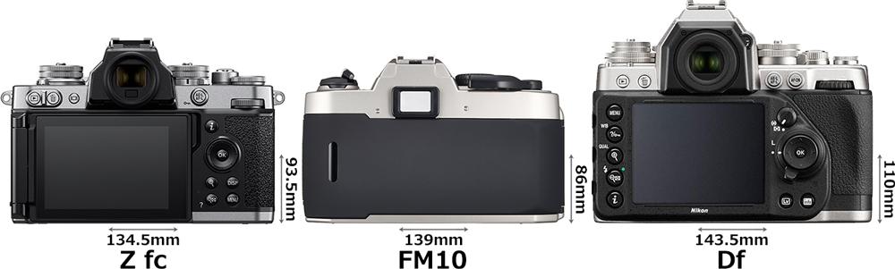 「Z fc」と「FM10」と「Df」 2