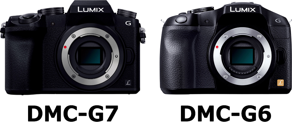 正面 LUMIX DMC-G7 vs. LUMIX DMC-G6
