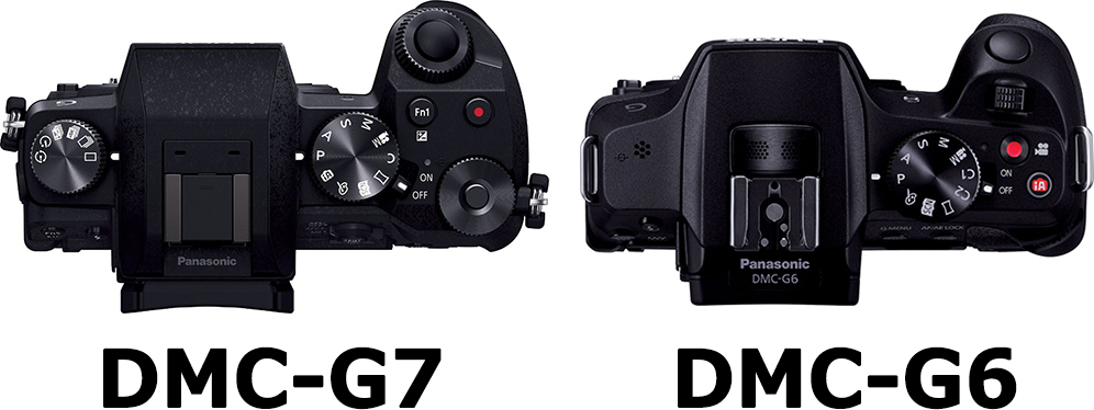 上面 LUMIX DMC-G7 vs. LUMIX DMC-G6