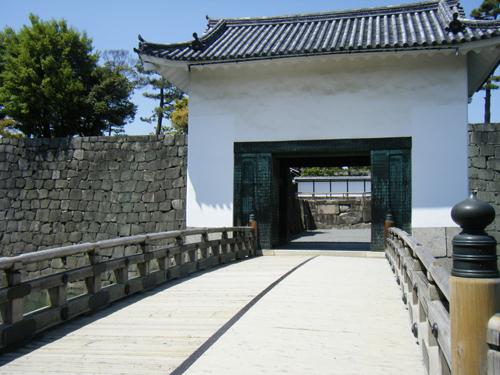 二条城内の橋の高画質画像