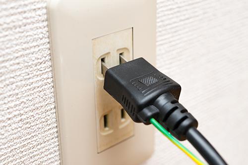 電気コード コンセントの高画質画像