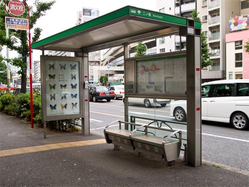 バス停の高画質画像