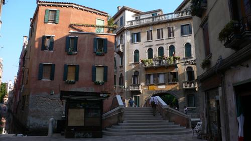 ベネチアの住宅地の高画質画像