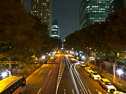 光跡、歩道橋 6の高画質画像