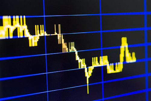 株価のチャートの高画質画像