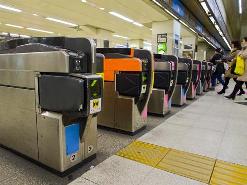 渋谷駅東急東横線改札口の高画質画像
