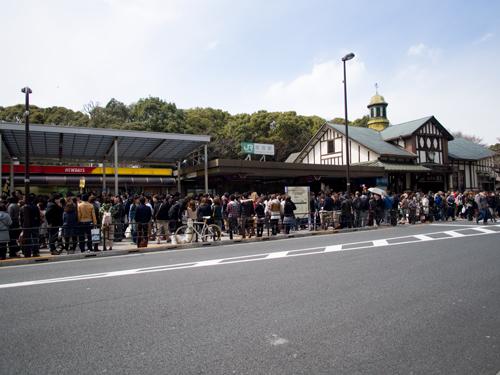 原宿駅前の混雑の高画質画像