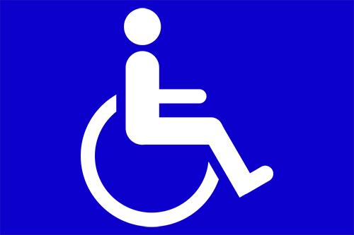車椅子マークの高画質画像