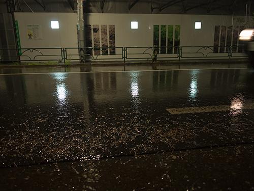 雨が降った夜道 14の高画質画像