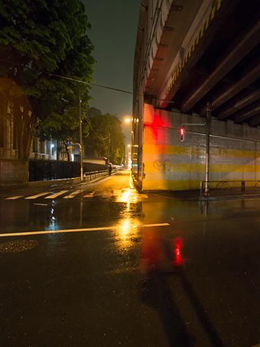 雨が降った夜道 20の高画質画像