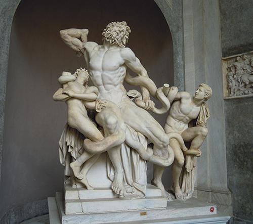 ラオコーン群像、バチカン美術館の高画質画像