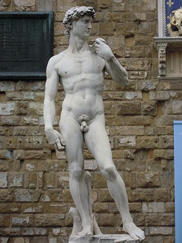 シニョリーア広場のダビデ像の高画質画像