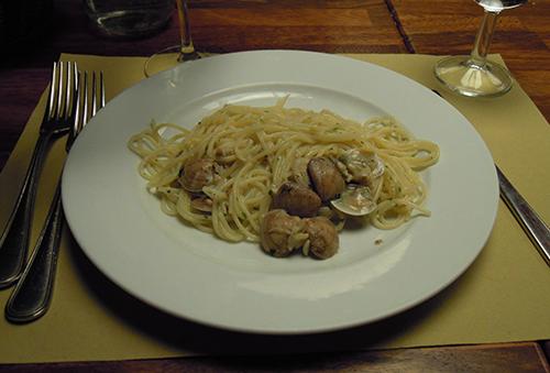 イタリアのスパゲッティーの高画質画像