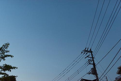 夜の電柱の高画質画像