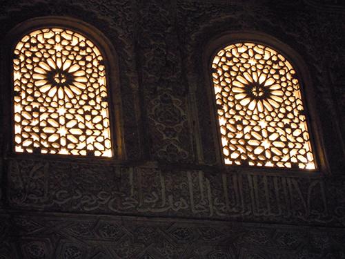 アルハンブラ宮殿の窓の高画質画像