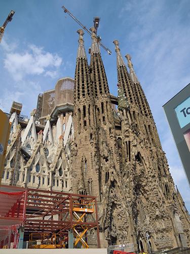 スペインのサグラダ・ファミリアの高画質画像