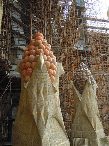 オブジェクト、サグラダ・ファミリアの塔の高画質画像
