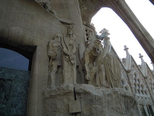 サグラダ・ファミリアの彫刻 4の高画質画像