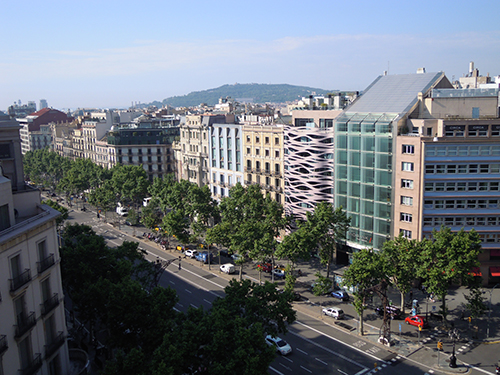 ミラ邸の屋上からの眺め、バルセロナ 1の高画質画像
