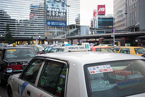 横浜駅西口方面のタクシー乗り場 1の高画質画像