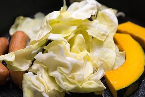 焼き肉の野菜の高画質画像