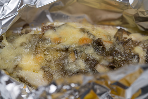 魚とチーズの蒸し焼きの高画質画像