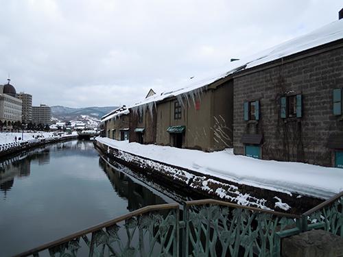 冬の小樽運河の高画質画像