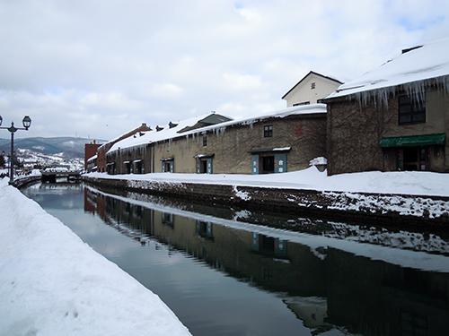 冬の小樽運河 1の高画質画像