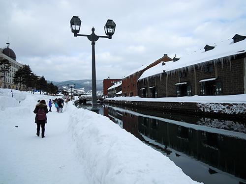 冬の小樽運河 3の高画質画像
