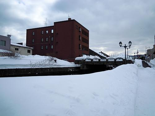 冬の小樽運河 4の高画質画像