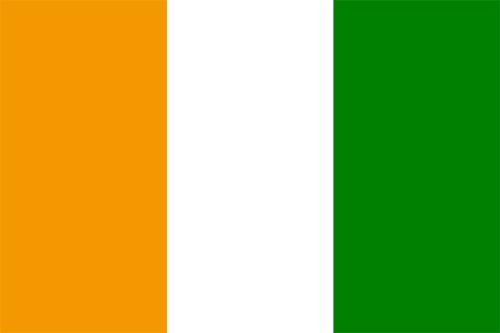 コートジボワールの国旗の高画質画像