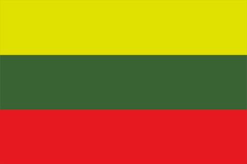 リトアニアの国旗の高画質画像