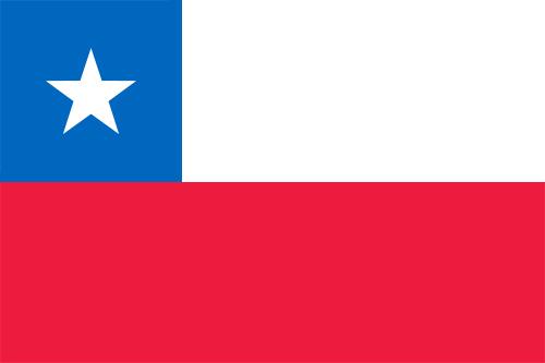 チリの国旗の高画質画像
