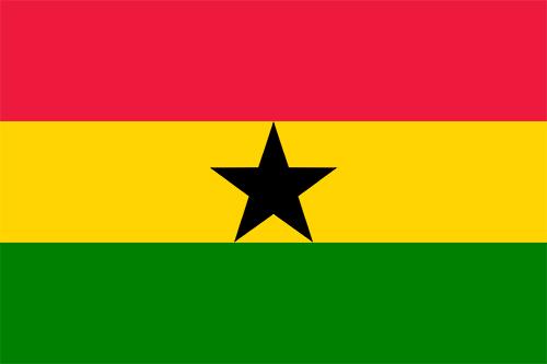 ガーナの国旗の高画質画像