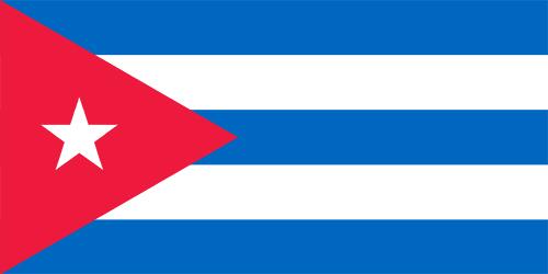 キューバの国旗の高画質画像